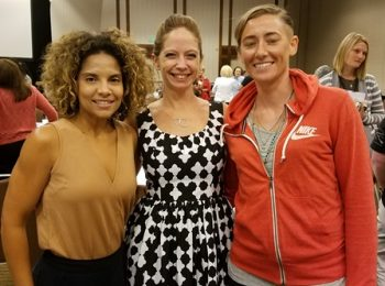 IMAGE: Kayla Williams and two other women at the 2017 National Women Veterans Summit