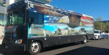 IMAGE: A VA mobile vet center deployed to Las Vegas