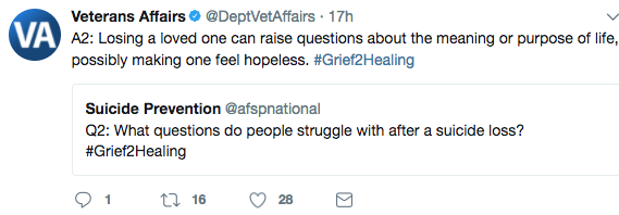 #Grief2Healing Twitter chat