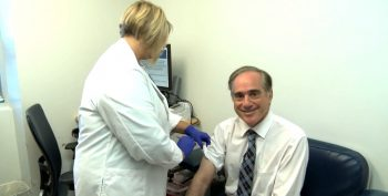 IMAGE: Secretary Shulkin receives his flu shot