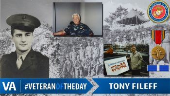 Tony Fileff - Veteran of the Day