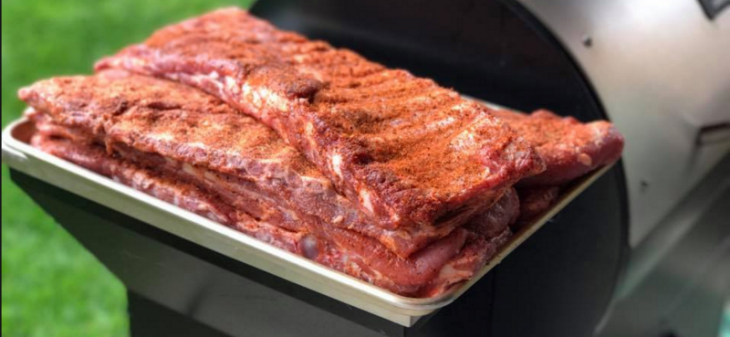 Image: of ribs on a grill