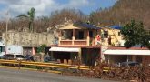 Image: a building damaged by Hurrican Maria