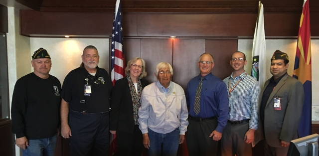 Image: VA staff, VSO and tribal representatives pose for a picture