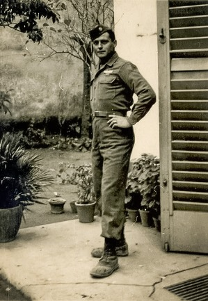 Image: Andy Fancher's grandfather in Italy during WWII