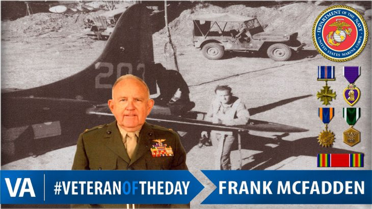 "#VeteranOfTheDay is Marine Corps Veteran Frank ""Mac"" Herman McFadden"