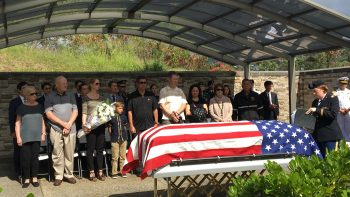 Reburial of Pfc. Albert Atkins