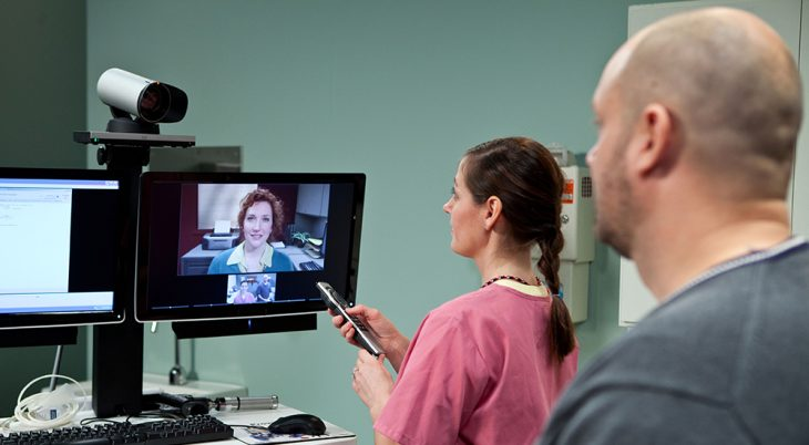 IMAGE: Telehealth screen with patient