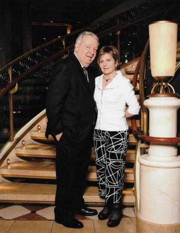 Betty and Tom on a cruise to Mexico on the Ruby Princess in 2017