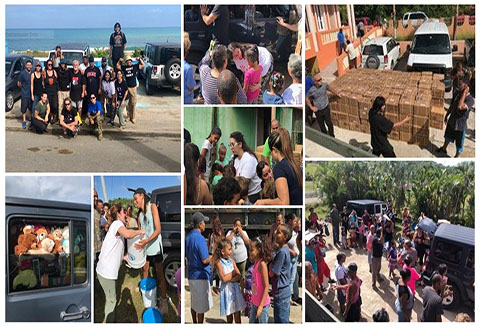 Collage of photos from Dr. Johanna Rivera Anazagasty's fourth humanitarian trip [January 4-8, 2018] to Puerto Rico in response to the crisis caused by Hurricane Maria, which devastated the island in September 2017. (Courtesy photos by Mylee Cardenas)