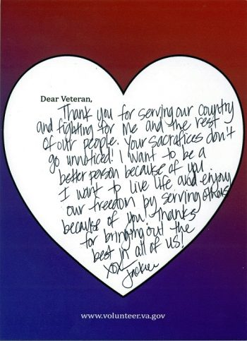 A million Valentines for Veterans