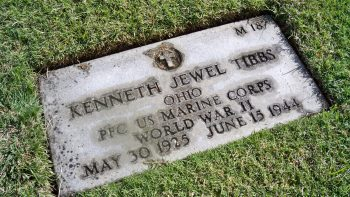 Kenneth Tibbs's grave marker at National memorial Cemetery of the Pacific