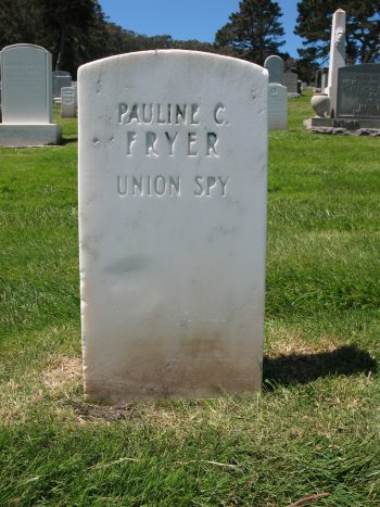 Photograph of Grave Marker for Pauline C. Fryer at San Francisco National Cemetery.