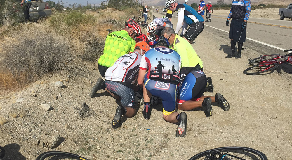 Veteran pushes through past experiences in effort to save an injured cyclist's life - VAntage Point