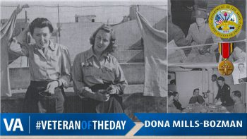 Dona Bozman - Veteran of the Day