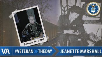 Jeanette Marshall - Veteran of the Day