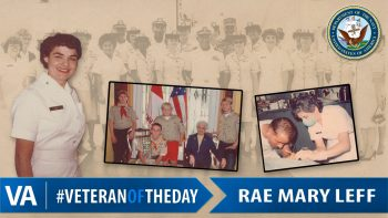 Rae Mary Leff - Veteran of the Day