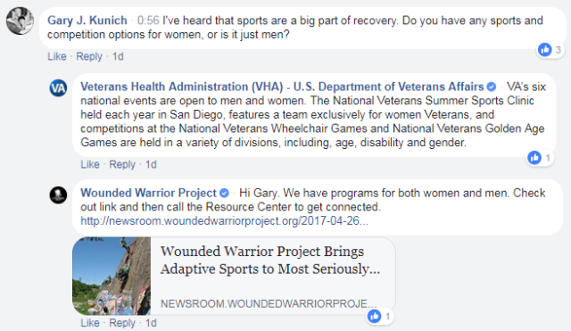 IMAGE: ICYMI: #ExploreVA Facebook Live event on VA health care for women Veterans screen shot