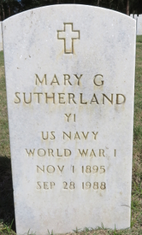 Mary Sutherland's grave marker at Florida National Cemetery