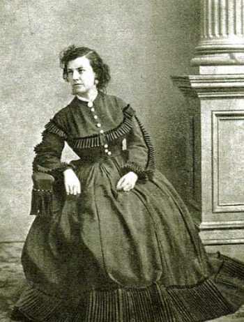 Photograph of Pauline Cushman Fryer wearing a civilian dress