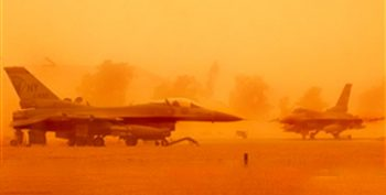 Sand Storm - Middle East - Air Force Base