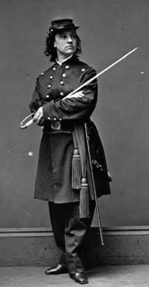 Photograph of Major Pauline Cushman in her officer's uniform.