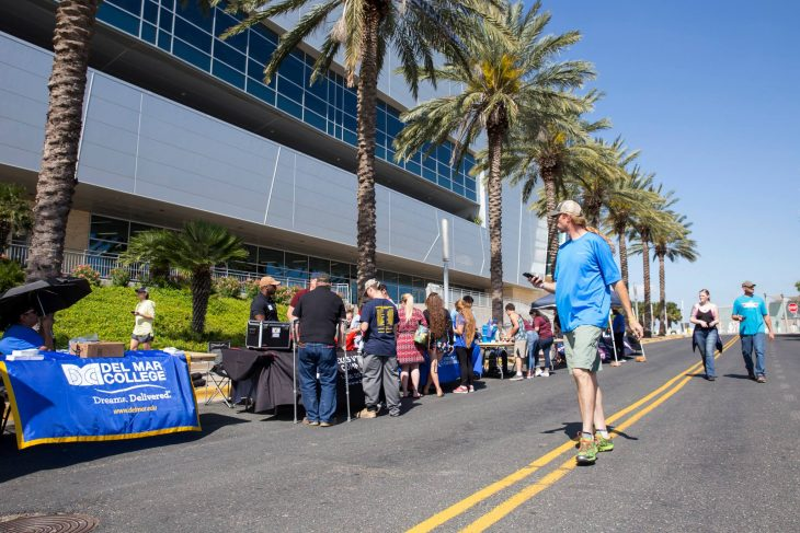 Guests walk through the information booth/Veterans benefits fair area of the 2018 Welcome Home event for Veterans.  (U.S. Department of Veterans Affairs photo by Reynaldo Leal)