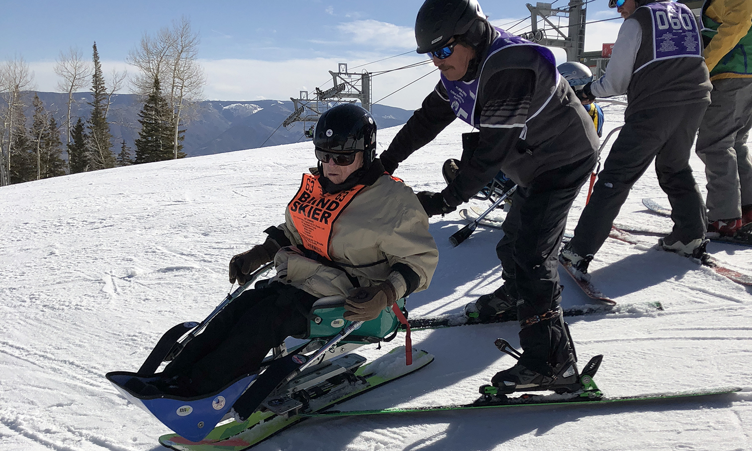 Wwii Veteran Skis For The First Time At Winter Sports