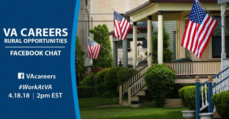 Meet recruiters and ask questions about VA careers in rural areas during our Facebook Chat.