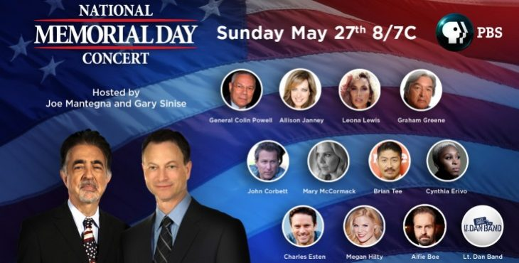 IMAGE: National Memorial Day Concert talent graphic
