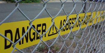 IMAGE: Asbestos warning sign