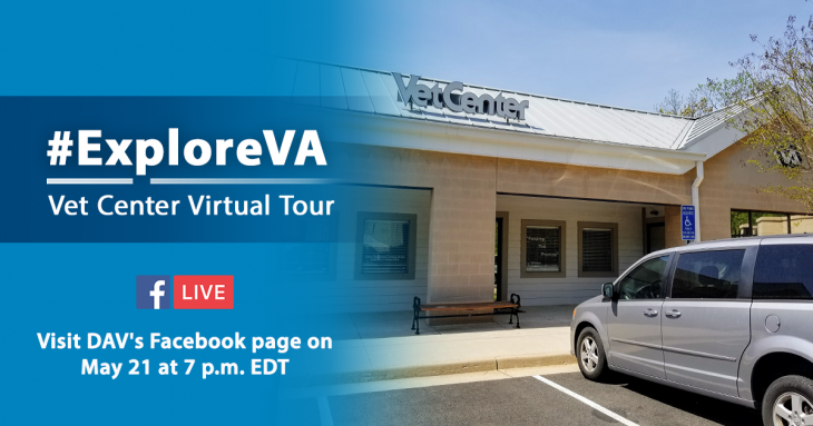 IMAGE: ExploreVA virtual Vet Center tour graphic
