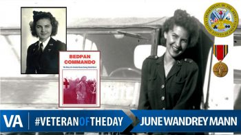June Wandrey Mann - Veteran of the Day