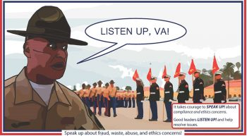 Ethics Concerns Listen Up VA Poster - Call out