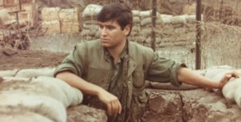 IMAGE: Bill Rider in a fox hole in Vietnam