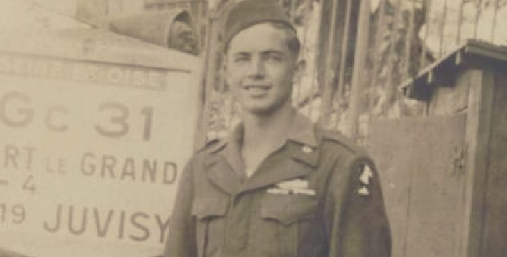 IMAGE William V. Hines in Europe during WWII