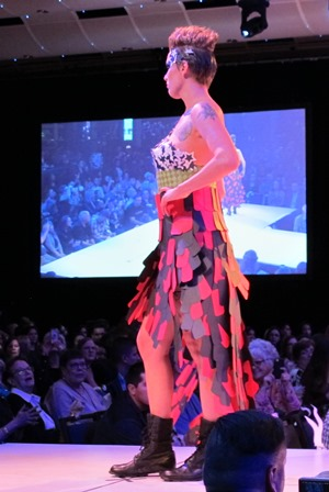 IMAGE: Sarah Alder on the runway