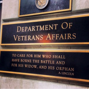Plaque of President Lincoln's charge to care for Veterans and their families, on VA's Washington, DC building.