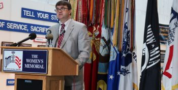 Image: Acting Secretary Robert Wilkie speaking during the wreath laying ceremony.