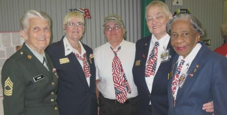 IMAGE: Harding pictured with fellow women Vetersans