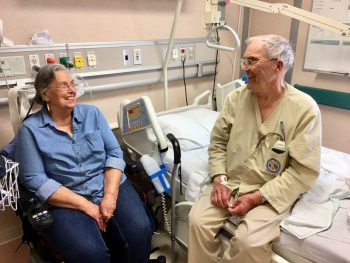 Bill Britt and his wife during an inpatient stay at the Marion VA Medical Center.