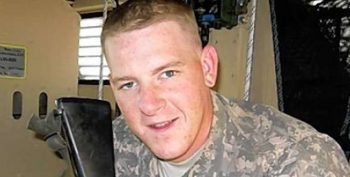 Photograph of Pfc. Benjamin B. Tollefson while deployed to Iraq in 2008