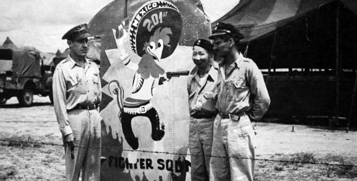 IMAGE Aztec Eagles during WWII
