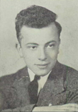 black and white yearbook photograph of Sidney Malatsky