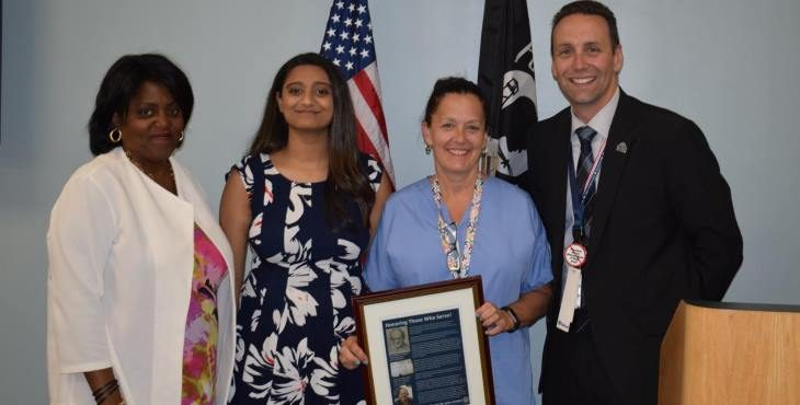 IMAGE: Acting CoS meets with facility staff