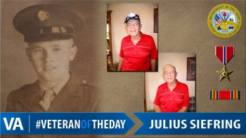 Julius Siefring - Veteran of the Day