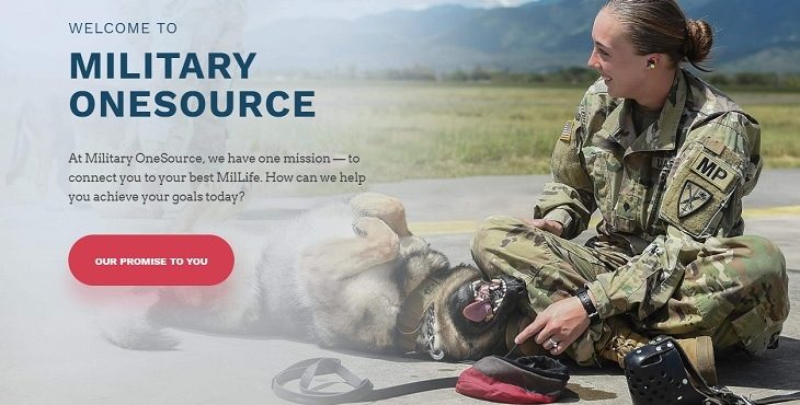 IMAGE: Military OneSource home page