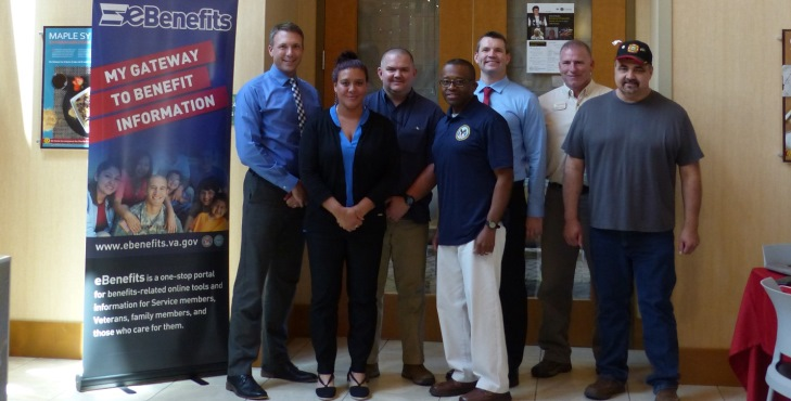 IMAGE: From left: Andrew Cleary (Milwaukee VARO PCT Coach); Deborah Flannick (Milwaukee VARO Public Contact Specialist); Kyle Haile (Milwaukee VARO Public Contact Outreach Specialist); Julian Wright (BAS representative); Tim Sullivan (Milwaukee VARO MA & PAO); Kevin Johnson (Bayfield CVSO); Rick Peterson (Red Cliff Band of Lake Superior Chippewa Indians Tribal Chairman)