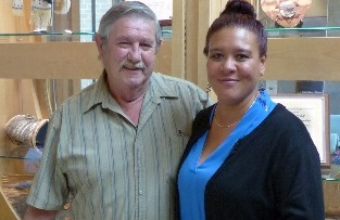 IMAGE: Veteran Donald King poses for a photo with Deborah Flannick (Milwaukee VARO Public Contact Specialist). Deborah assisted Mr. King with his VA claim(s) at the Tribal Veteran Claims Clinic in Bayfield Wisconsin