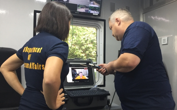 IMAGE: Telehealth exercise in a mobile medical clinic